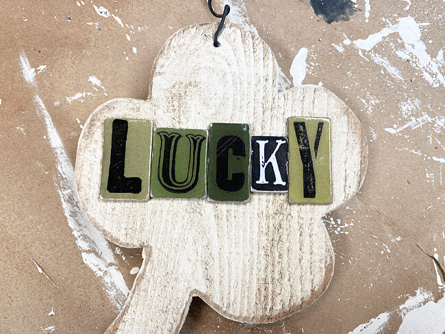 Lucky letters on the shamrock