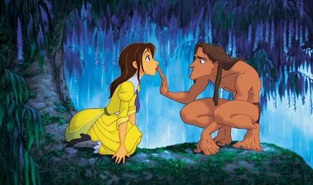 Tarzan and Jane Porter Tarzan 1999 animatedfilmreviews.blogpspot.com