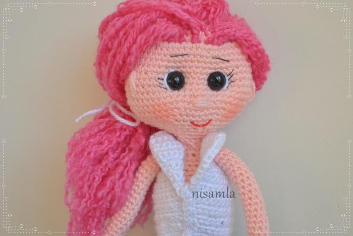 nisamla: Pembe sacl? amigurumi bebek