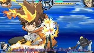 Salah satu game fighting favorit saya pas pegang Xperia J Game:  Katekyo Hitman Reborn! Battle Arena 2 - Spirit Burst iso
