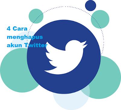 4 Cara menghapus akun Twitter