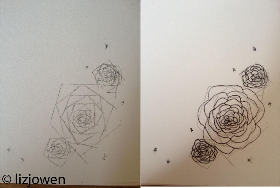 castle border design liz owen graphic design and illustration fmp castle and roses