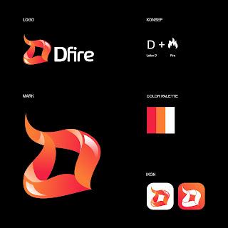 Desain Logo Dfire