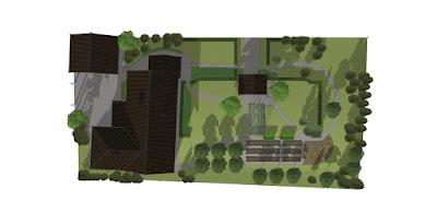 Предварительный план сада в 3D