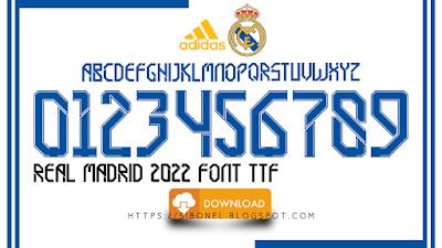 Font Real Madrid 2021-2022