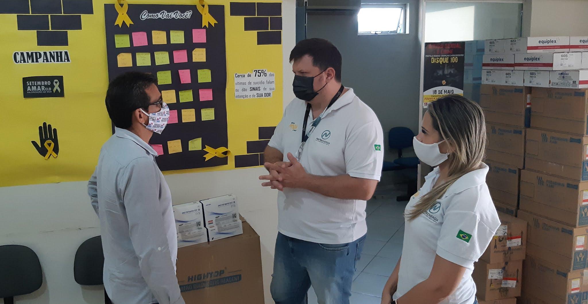 Sespa recebe doação de 1,4 mil testes rápidos para covid-19 da Norte Energia