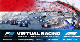 Resultado Carrera Virtual de F2 Monaco 24-5-2020