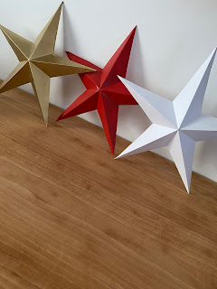 DIY : Étoile en papier peinte