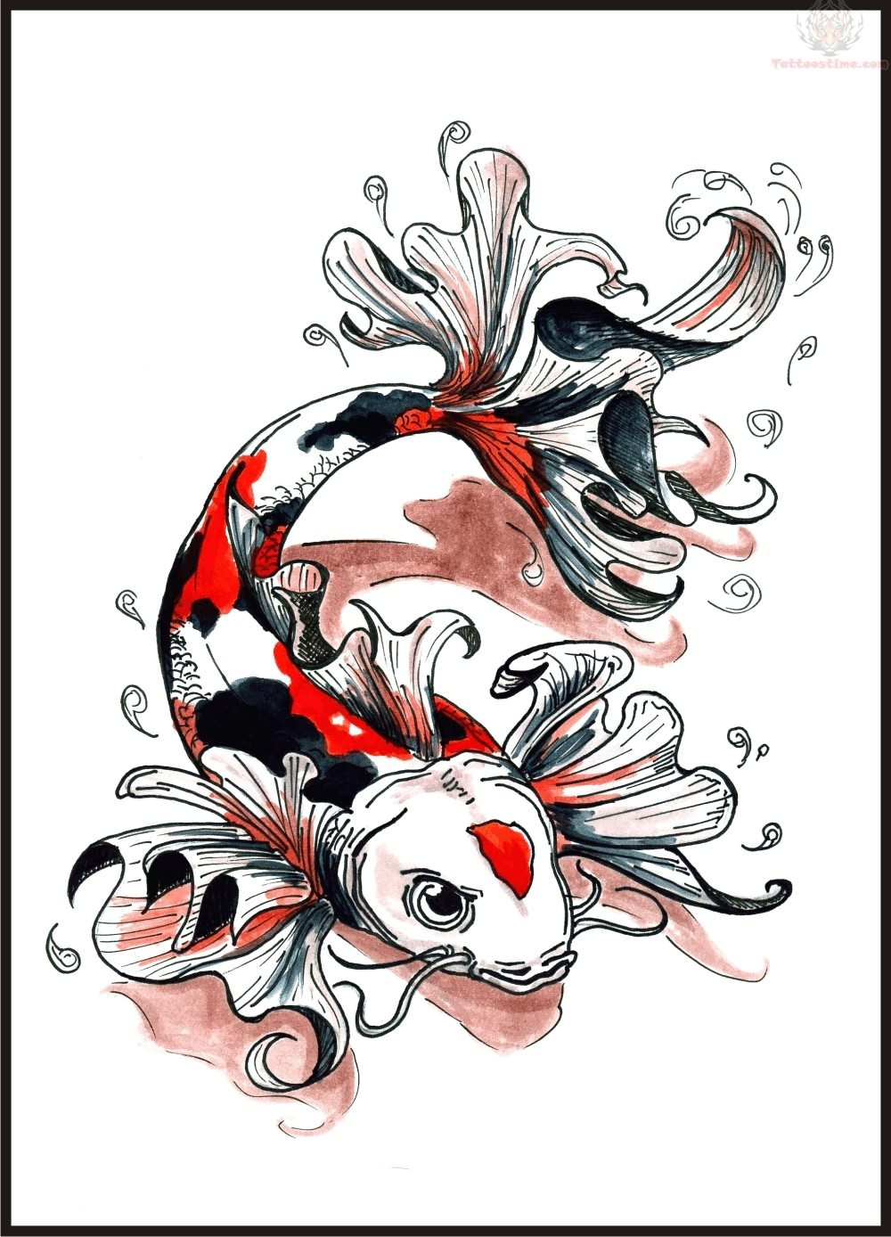 Koi fish tattoo designs for men | Koi Fish Tattoo