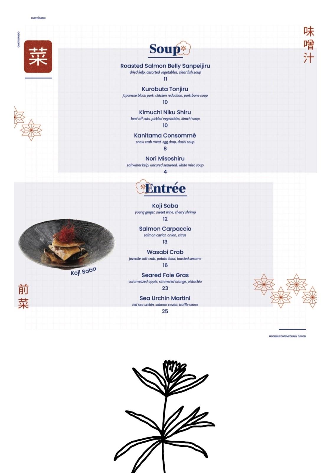 omote menu 2
