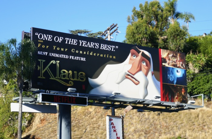 Klaus movie FYC billboard