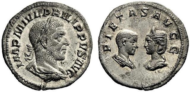 denario del emperador romano Filipo el árabe