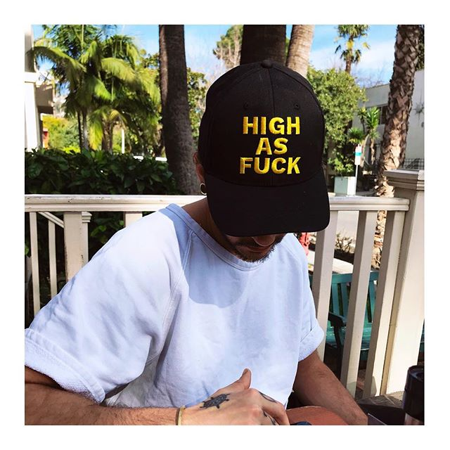 HIGH AS FUCK cap worn by Tom Kaulitz Tokio Hotel.  PYGear.com