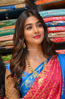 Puja Hegde looks stunning in Red saree at launch of Anutex shopping mall ~ Celebrities Galleries 030.JPG