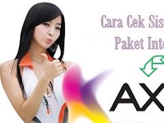Cara Cek Sisa Kuota Paket Internet Axis (Lengkap)