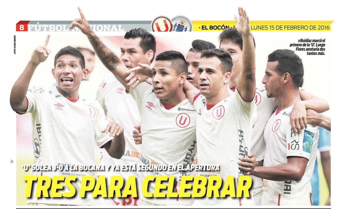 Sector - U - Crema: [Universitario 3 - 0 Bocana]: Buen resultado ...