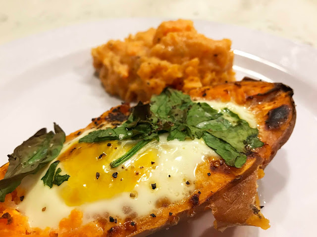 25 Minute Stuffed Baked Sweet Potatoes