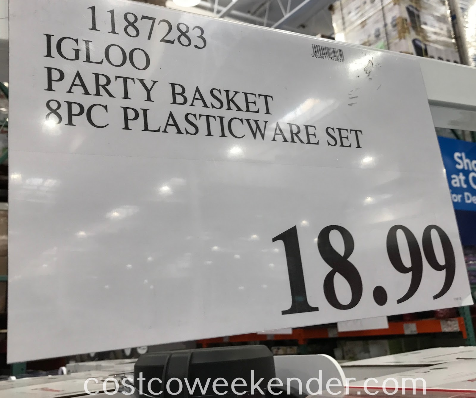 Deal for the Igloo Party Basket with 8-piece Food Storage Set at Costco