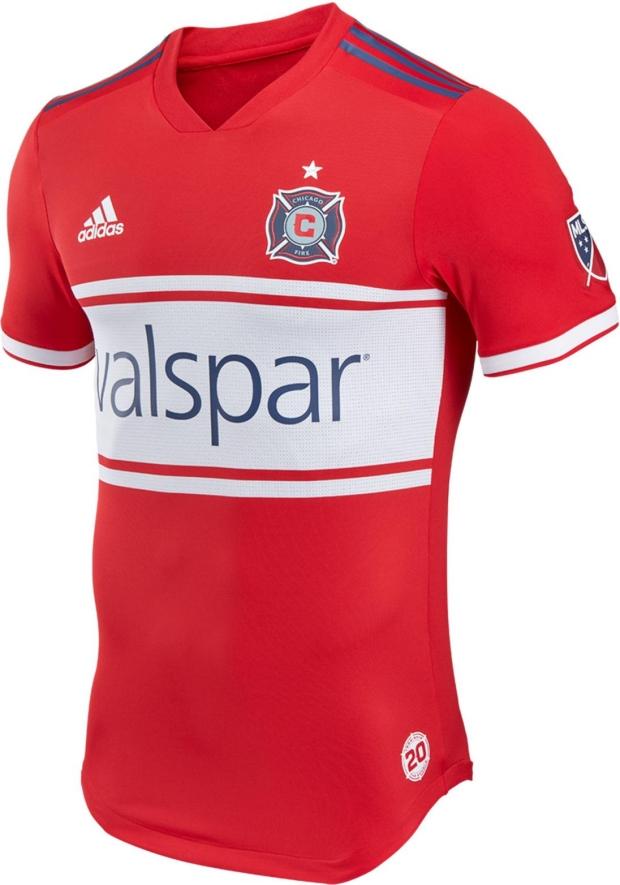 Adidas lança camisa titular do Chicago Fire para a MLS 2018 - Show ... 0933c4e54e260