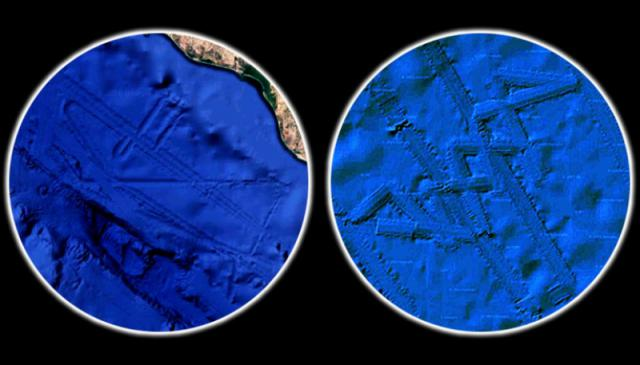 Two Enormous, Sunken Alien Bases Discovered on Google Earth
