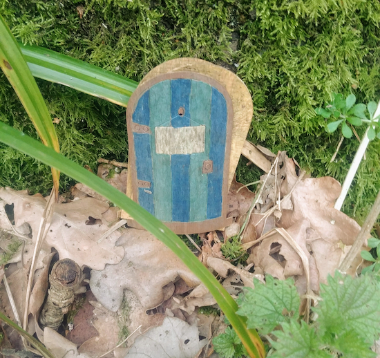 Photograph of faerie door in Mymmshall Wood by North Mymms News