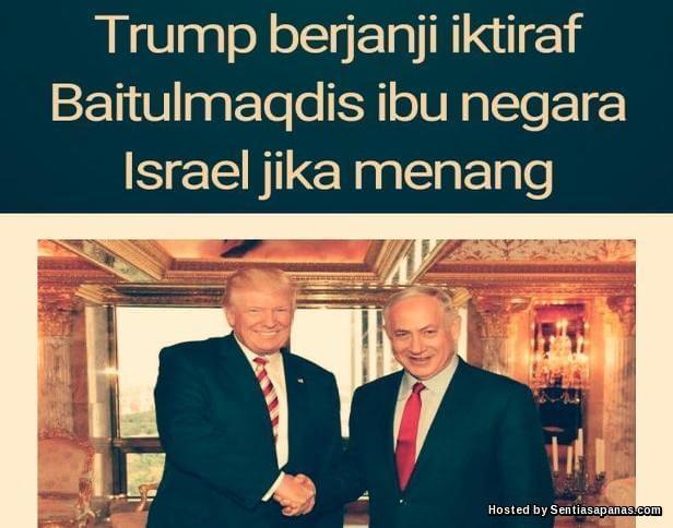 Donald Trump and Baitulmaqdis