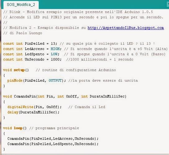 Programma Arduino SOS - Modifica 2 di Paolo Luongo
