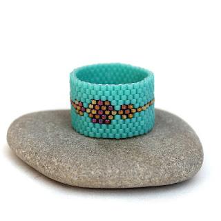 купить кольцо бирюзового цвета под платье минималистичное украшение