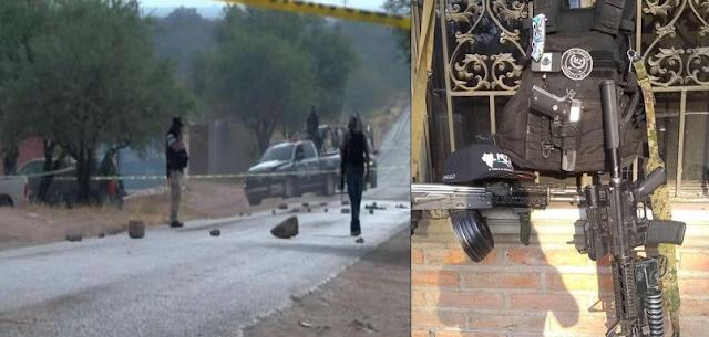 Fotografías: Así fue el enfrentamiento, saldo y evidencias del enfrentamiento entre Cártel de Sinaloa vs el CJNG los que perdieron cerca de 30 hombres
