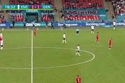 Inggris vs Denmark Babak Pertama Imbang 1:1 laga semifinal EURO 2020
