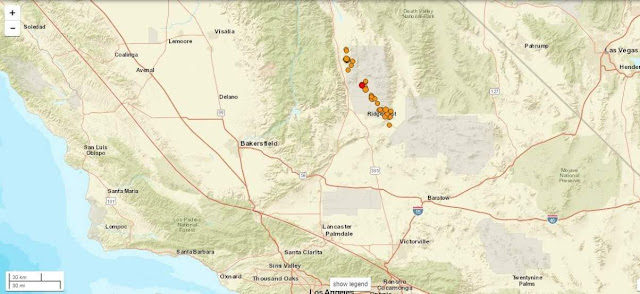 California Was Shaking Again Tuesday, With Six Earthquakes of 3.5 or Greater