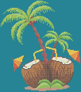 Free cross-stitch patterns, Skies and Seas, sky, sea, sea-patterns, seascape, palm trees, summer, clipart, cross-stitch, back stitch, cross-stitch scheme, free pattern, x-stitchmagic.blogspot.it, вышивка крестиком, бесплатная схема, punto croce, schemi punto croce gratis, DMC, blocks, symbols, patrones punto de cruz, #crossstitch_pattern, #crossstitch