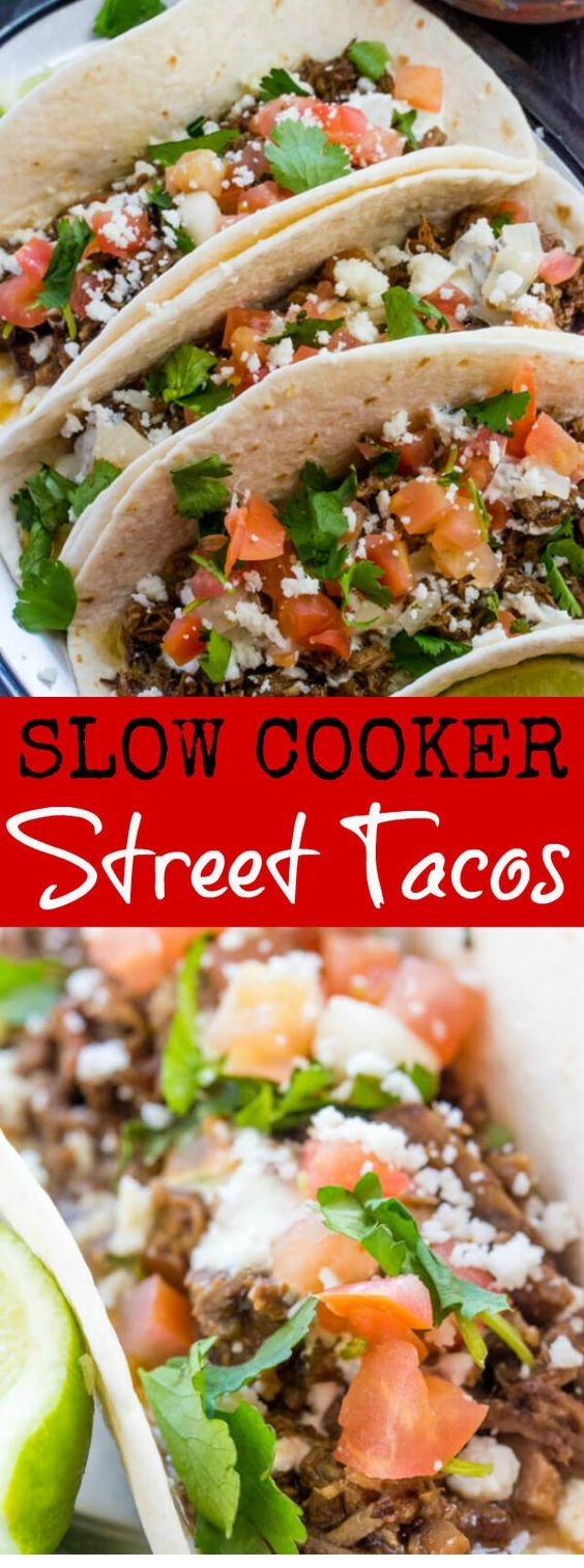 Slow Cooker Street Tacos