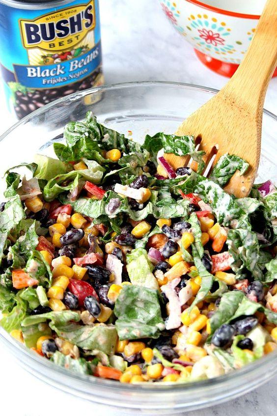 Black Bean Taco Salad Recipe #recipes #dinnerideas #foodideas #foodideasfordinnereasy #food #foodporn #healthy #yummy #instafood #foodie #delicious #dinner #breakfast #dessert #lunch #vegan #cake #eatclean #homemade #diet #healthyfood #cleaneating #foodstagram