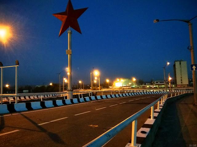 Звезда на вокзале Луганск