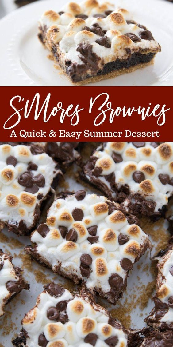 Easy S'Mores Brownìes Recìpe for Summer