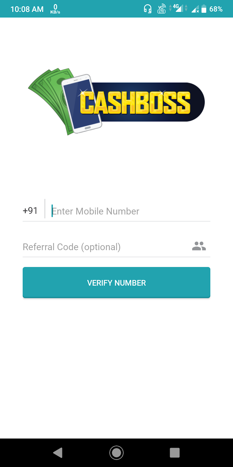 CashBoss App Free Rs.15 Paytm Cash Refer
