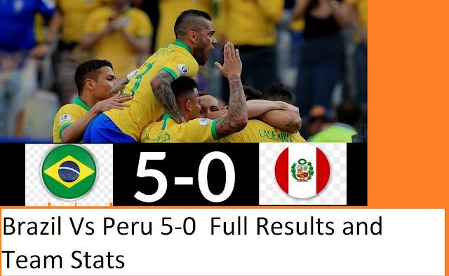 Brazil Vs Peru  Copa America 22 June 2019 Result  Final Score
