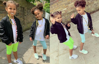 Mikel Obi's Adorable Twin Daughters Show off Their Winning Medals After Participating In Sports Day At School [Photos]