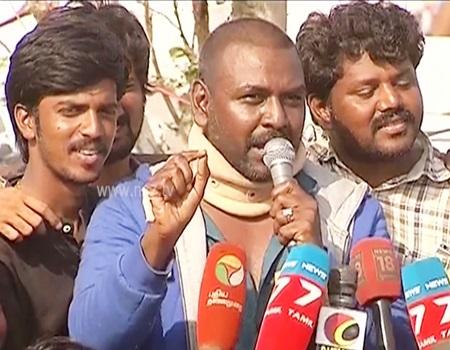 Raghava Lawrence questions & slams TN CM O Paneerselvam and Modi | News 7 Tamil
