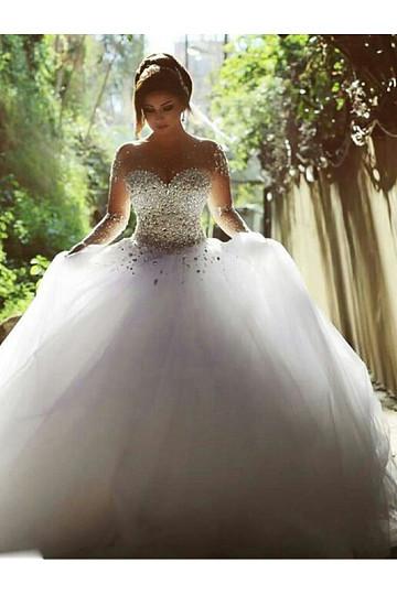 Extravagant natural Wedding dress