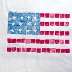 Mosaic Print T-Shirt - Flag