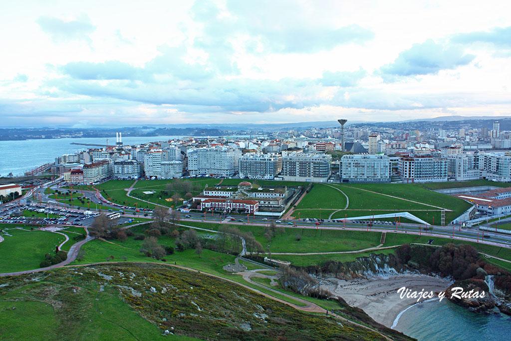 Vistas desde la Torre de Hércules de A Coruña