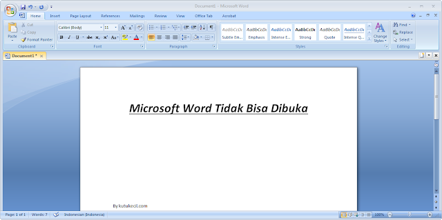 cara mengatasi microsoft word yang tidak bisa dibuka
