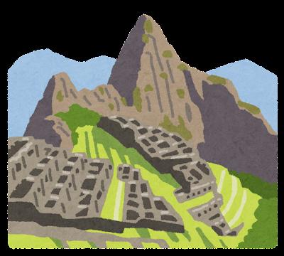 マチュピチュ遺跡のイラスト