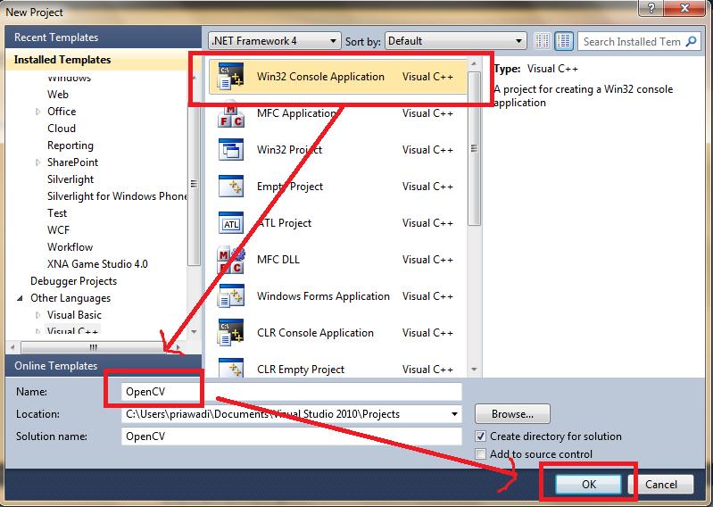 priawadi: Install OpenCV dengan Visual C++   Visual Studio