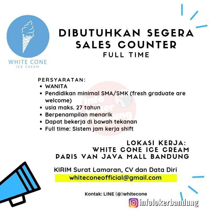 Lowongan Kerja Sales Counter White Cone Bandung April 2019