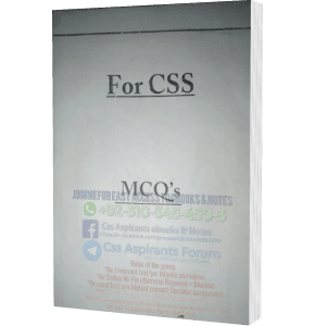 Gender Studies MCQ's For CSS Examination