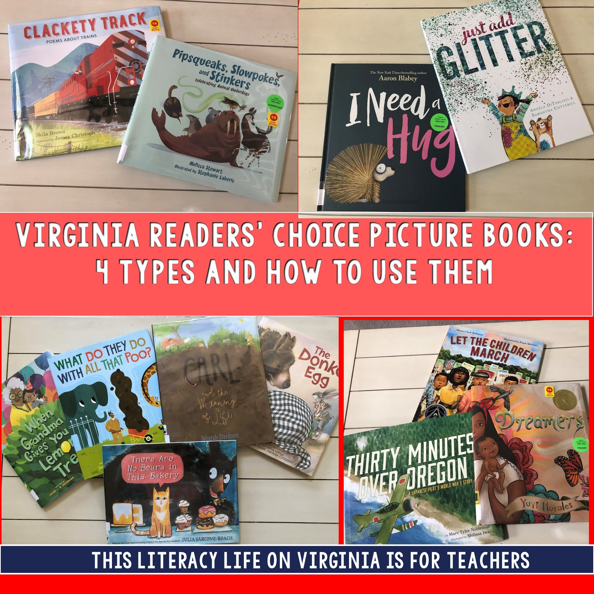 Picture books are great for reading aloud and helpful for teaching various skills and strategies. These picture books will make lessons more exciting!