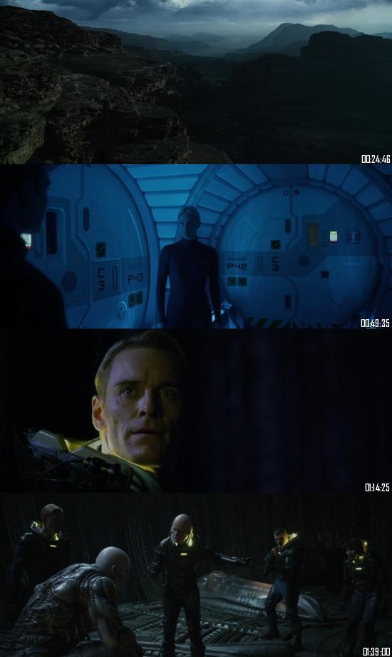 Prometheus 2012 BRRip 720p 480p Dual Audio Hindi English Full Movie Download